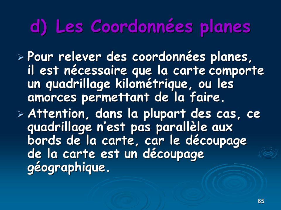 Les Coordonnées planes