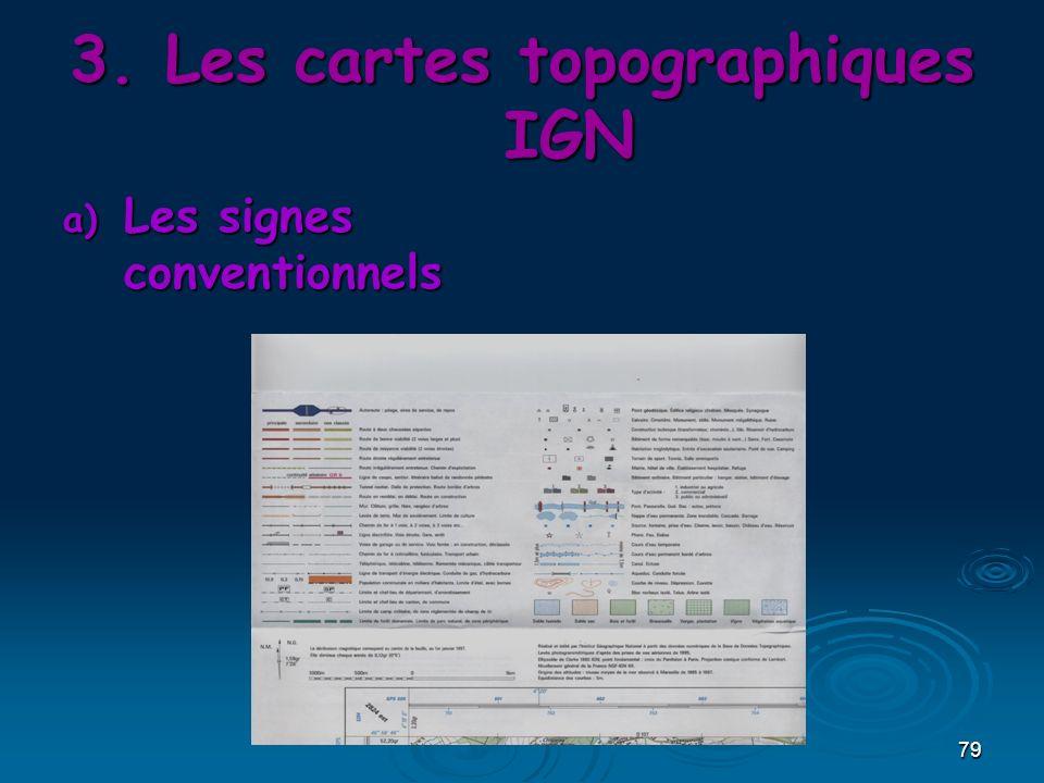 Les cartes topographiques IGN