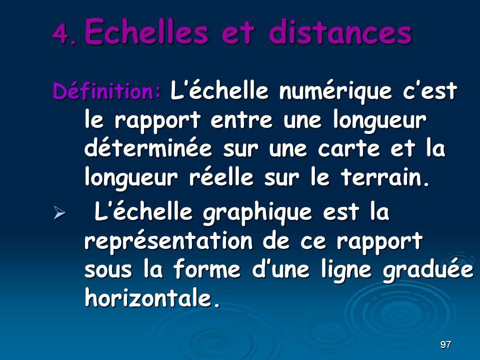 Echelles et distances