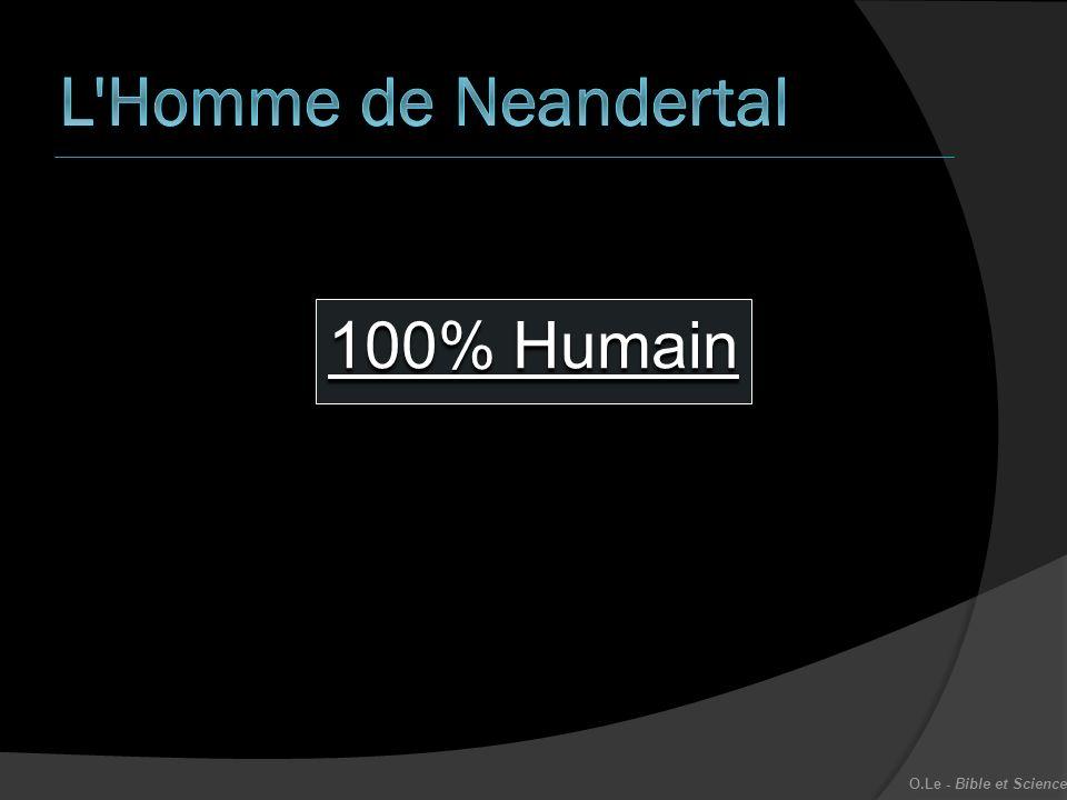 L Homme de Neandertal 100% Humain O.Le - Bible et Science