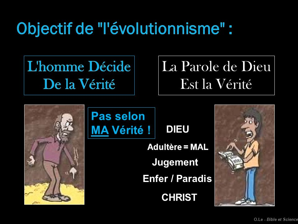 Objectif de l évolutionnisme :