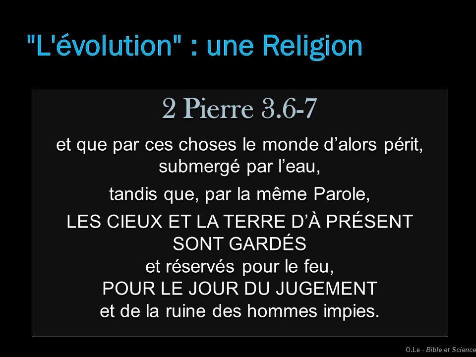 L évolution : une Religion