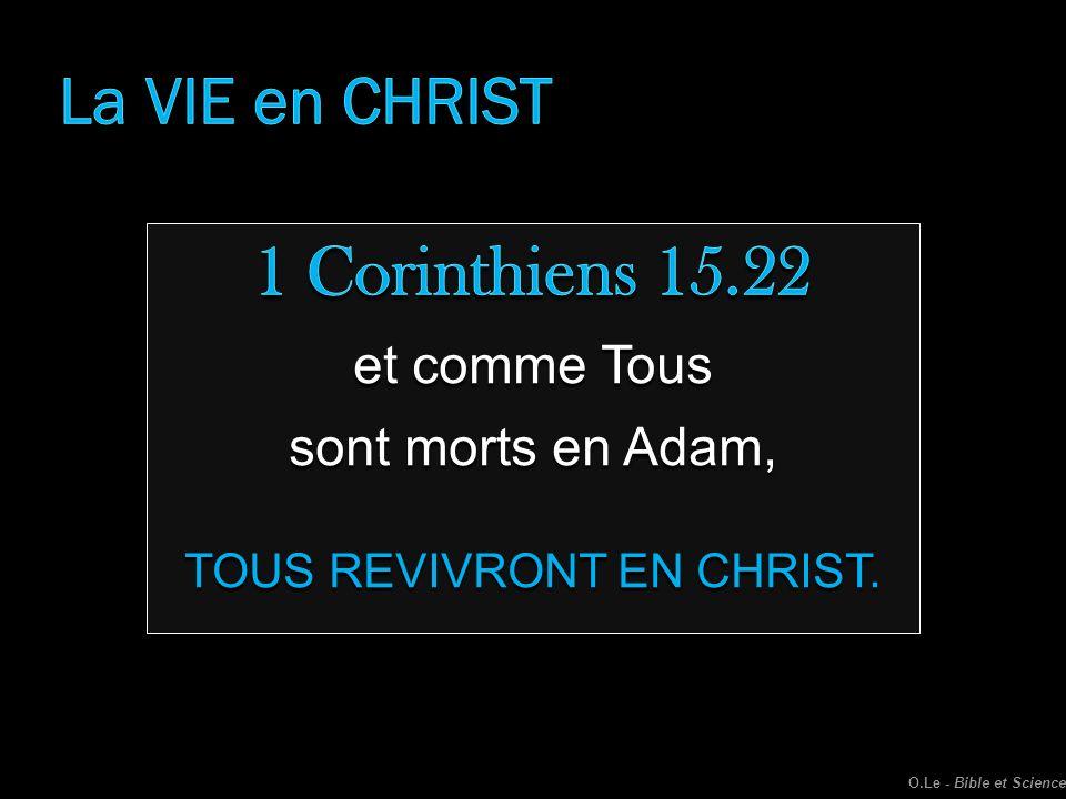 TOUS REVIVRONT EN CHRIST.