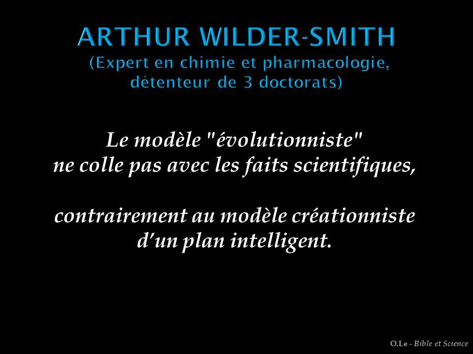 ARTHUR WILDER-SMITH (Expert en chimie et pharmacologie, détenteur de 3 doctorats)