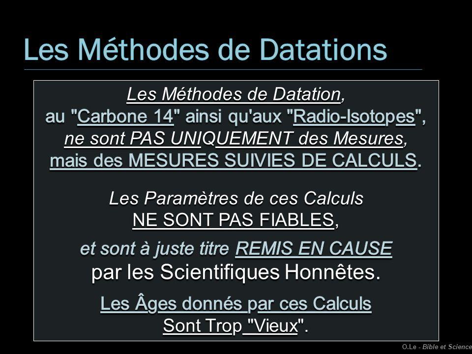 Les Méthodes de Datations