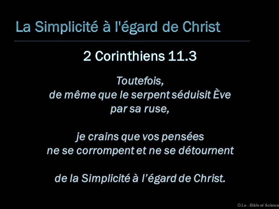 La Simplicité à l égard de Christ