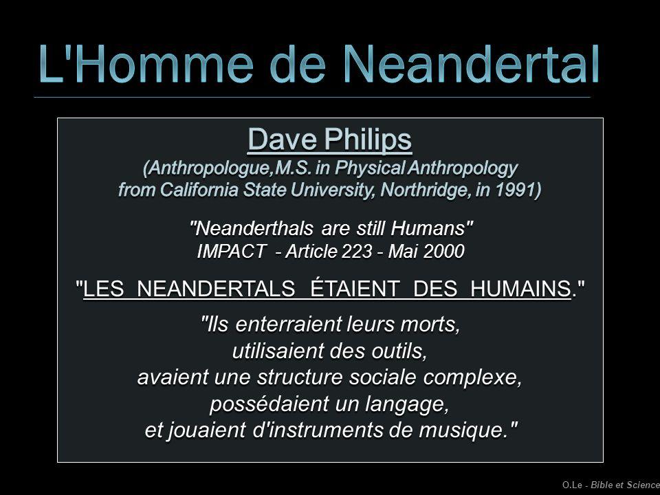 L Homme de Neandertal Dave Philips