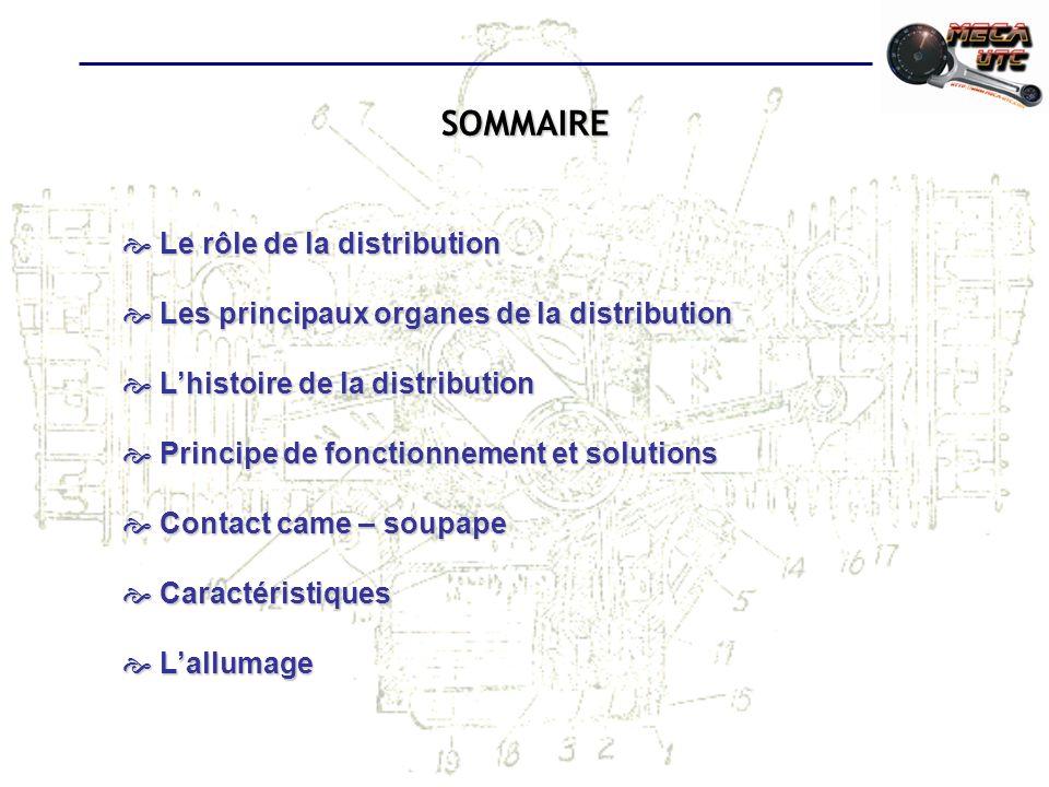 SOMMAIRE Le rôle de la distribution