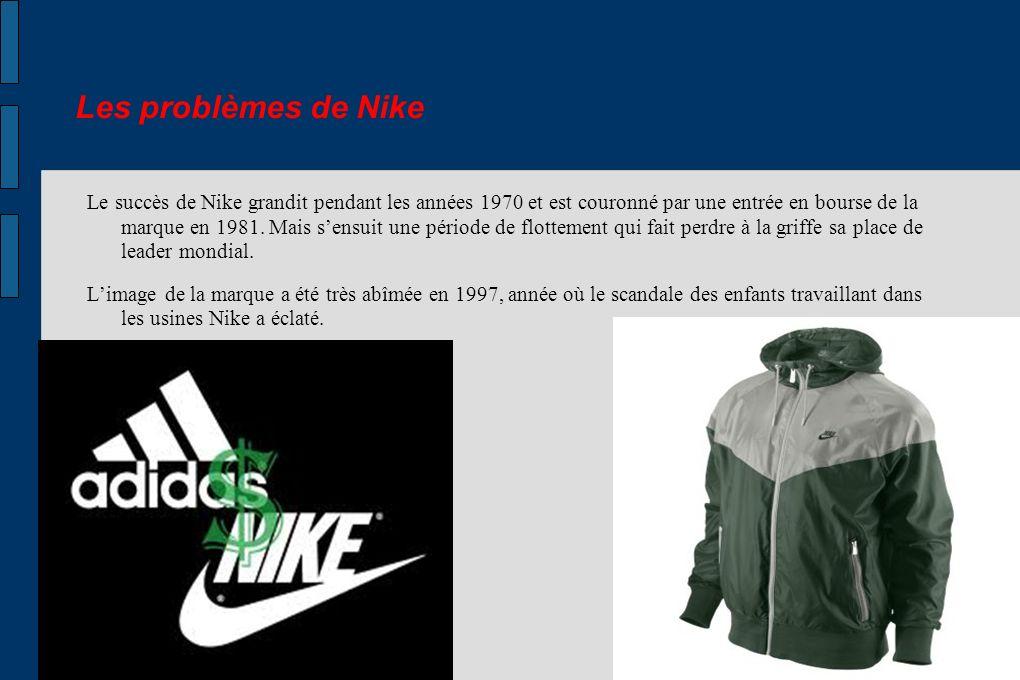 Les problèmes de Nike