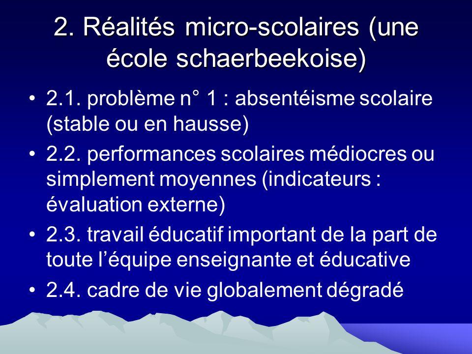 2. Réalités micro-scolaires (une école schaerbeekoise)