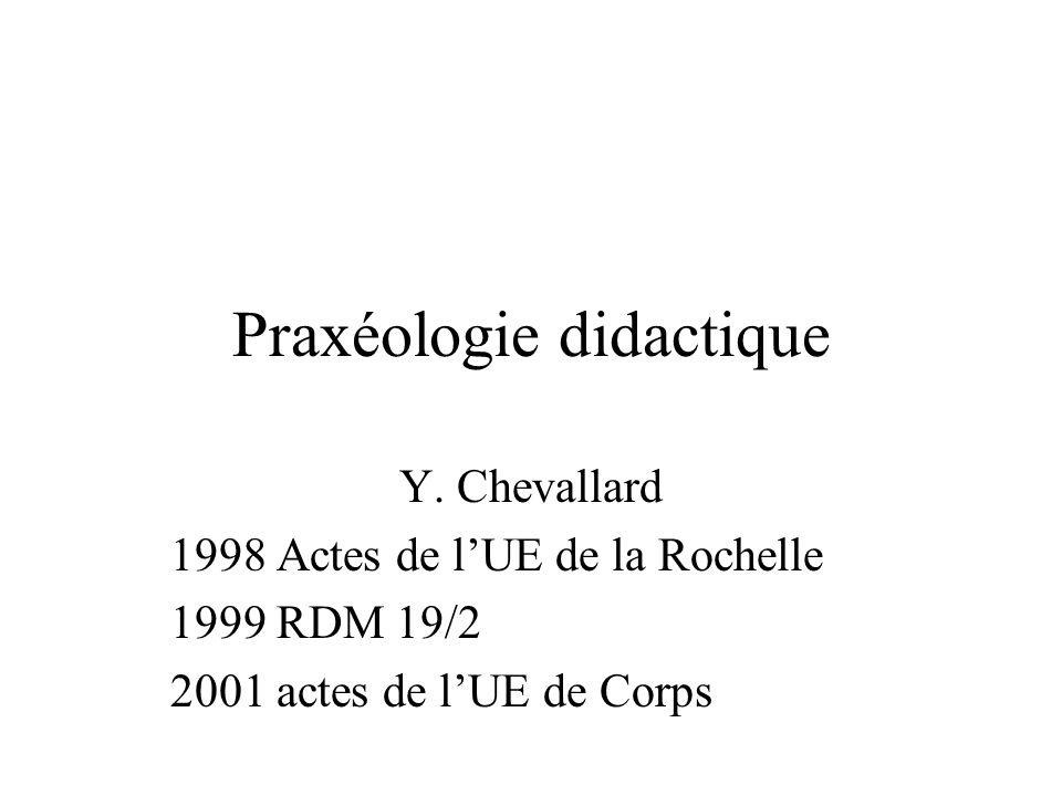 Praxéologie didactique