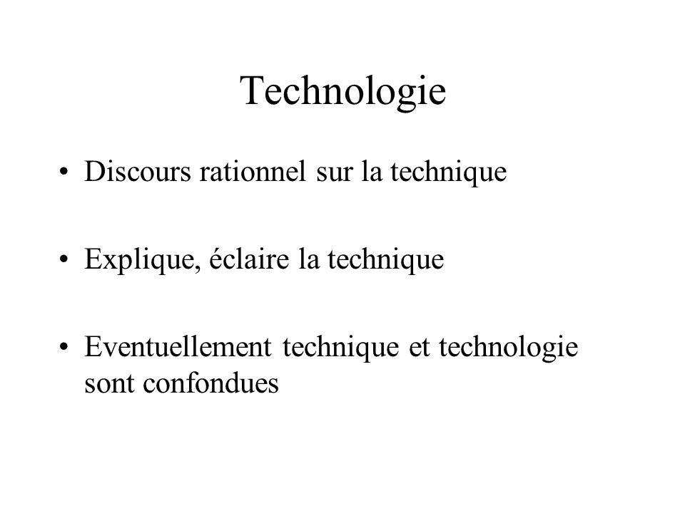 Technologie Discours rationnel sur la technique