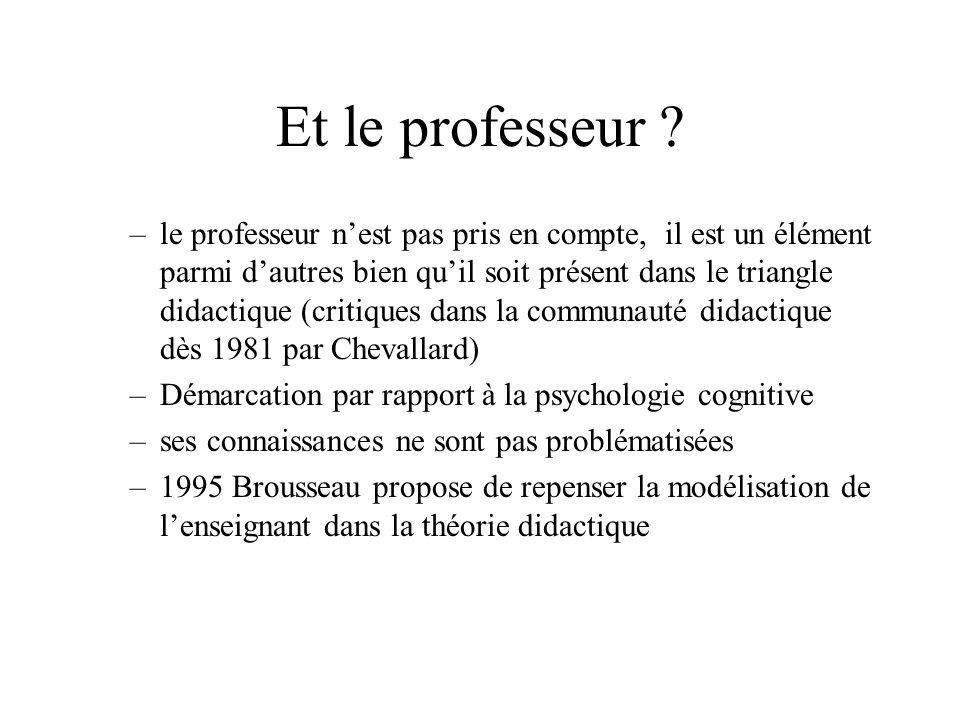 Et le professeur