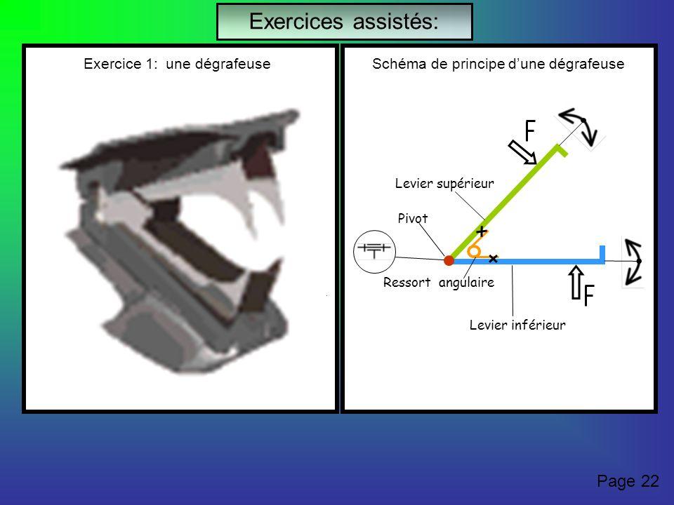 Exercices assistés: Page 22 Exercice 1: une dégrafeuse