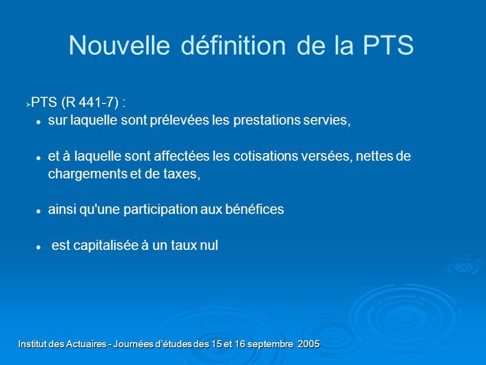 Nouvelle définition de la PTS