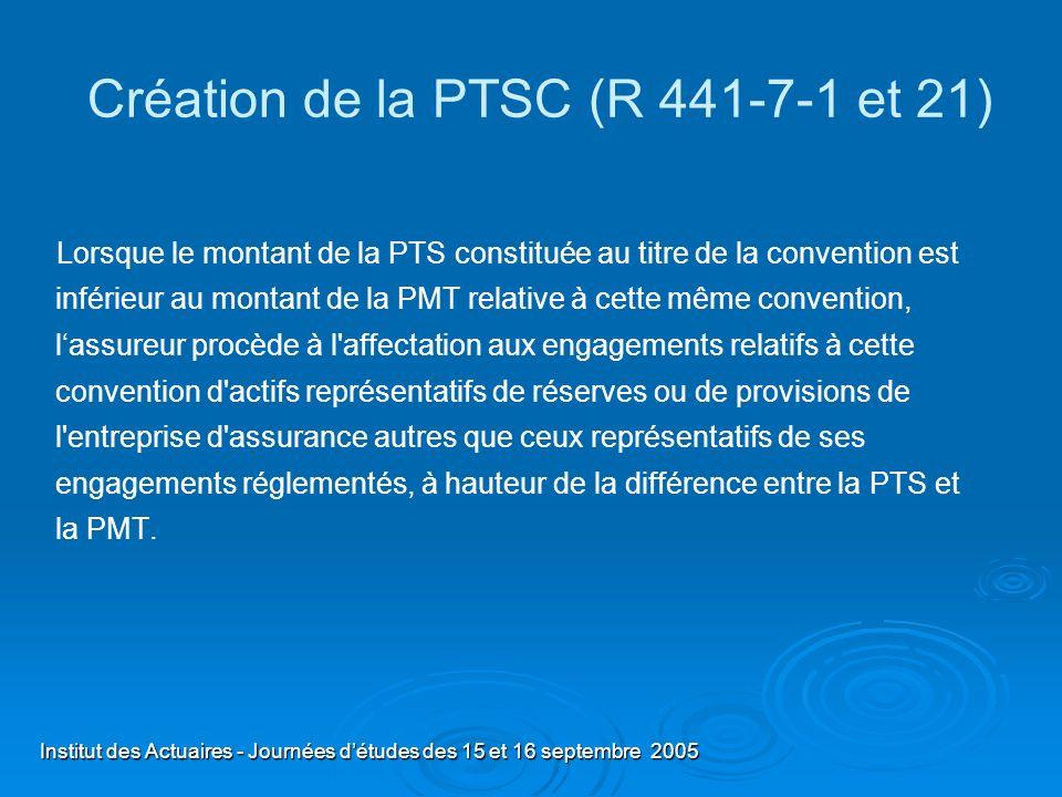 Création de la PTSC (R 441-7-1 et 21)