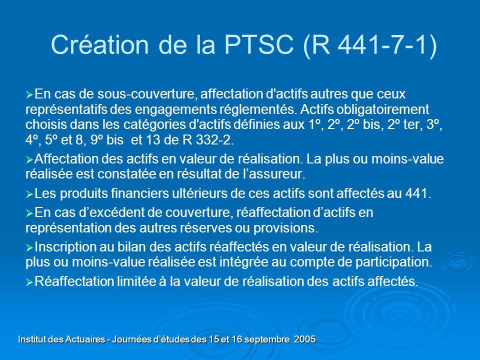 Création de la PTSC (R 441-7-1)
