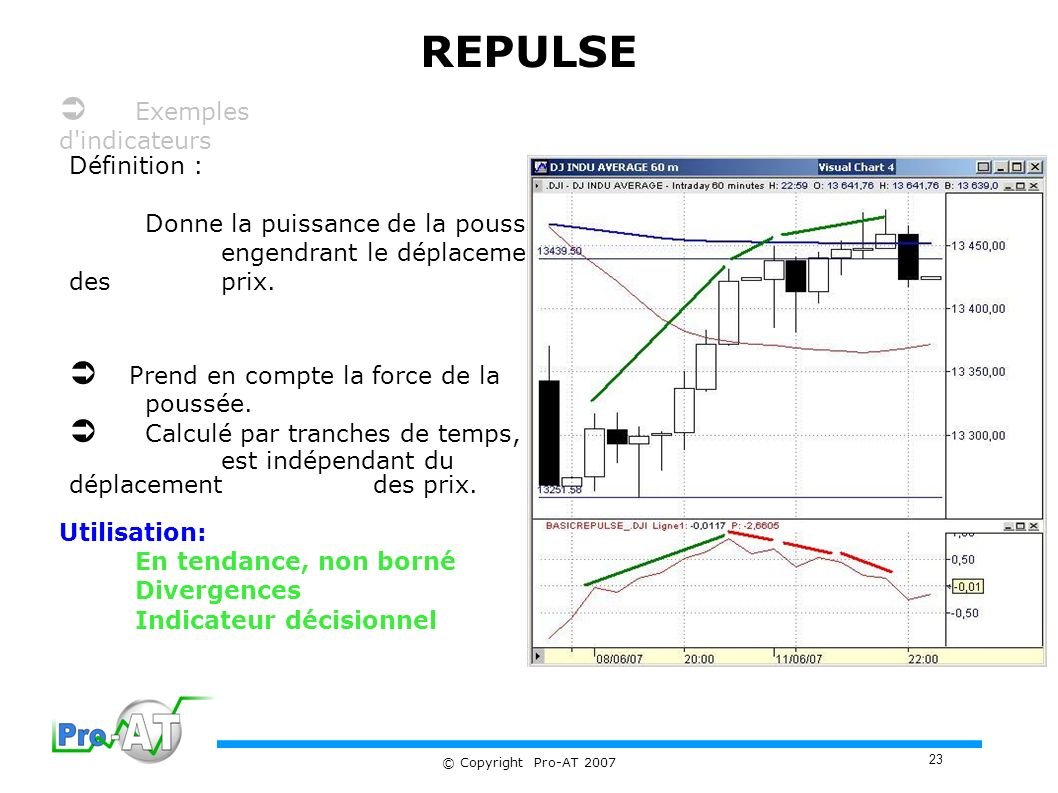 REPULSE  Exemples d indicateurs