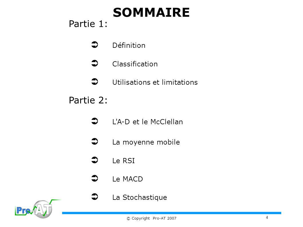 SOMMAIRE Partie 1:  Définition  Classification