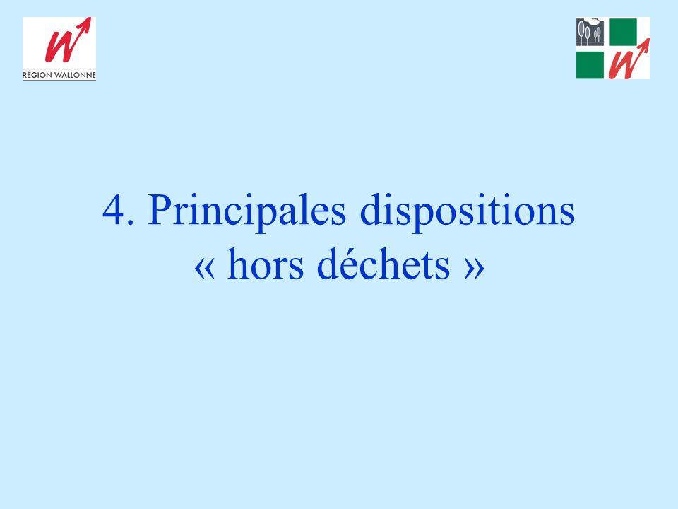 4. Principales dispositions « hors déchets »