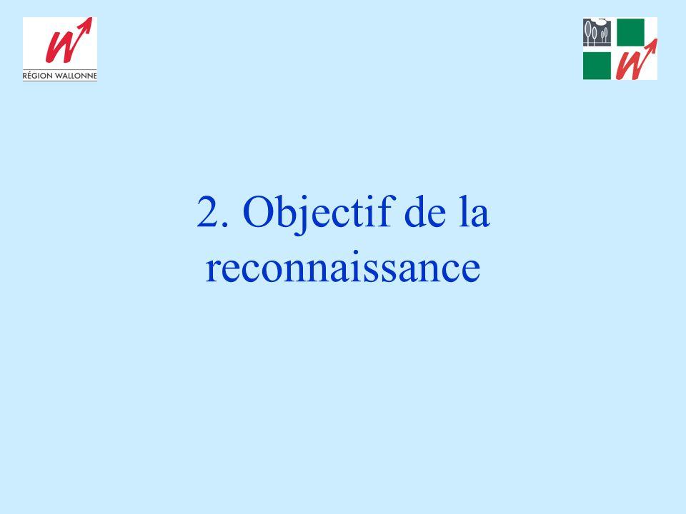 2. Objectif de la reconnaissance