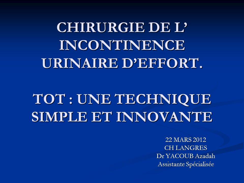 22 MARS 2012 CH LANGRES Dr YACOUB Azadah Assistante Spécialisée