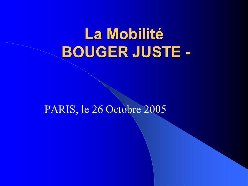 La Mobilité BOUGER JUSTE -