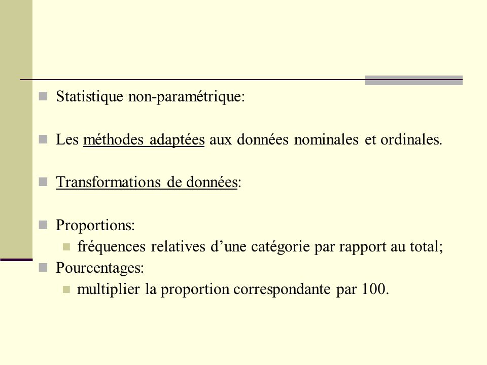 Statistique non-paramétrique: