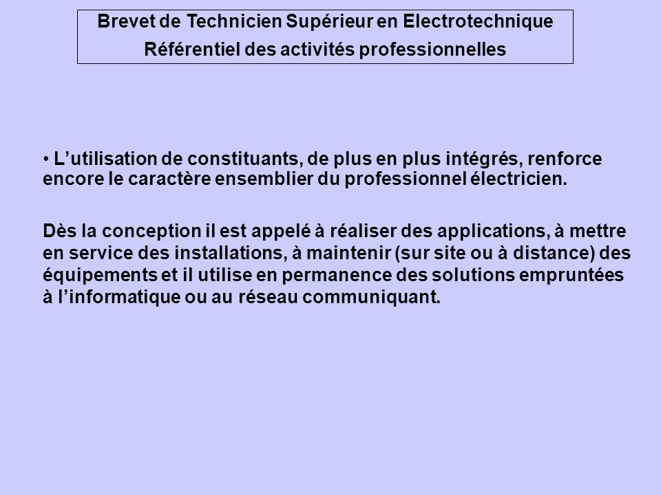 Brevet de Technicien Supérieur en Electrotechnique