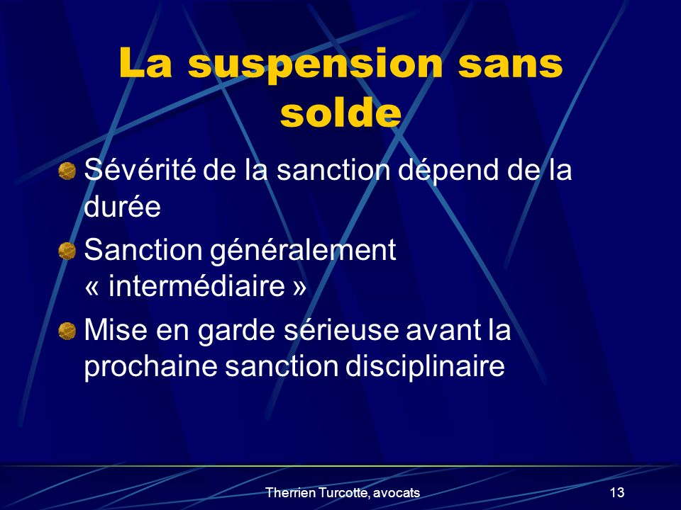 La suspension sans solde
