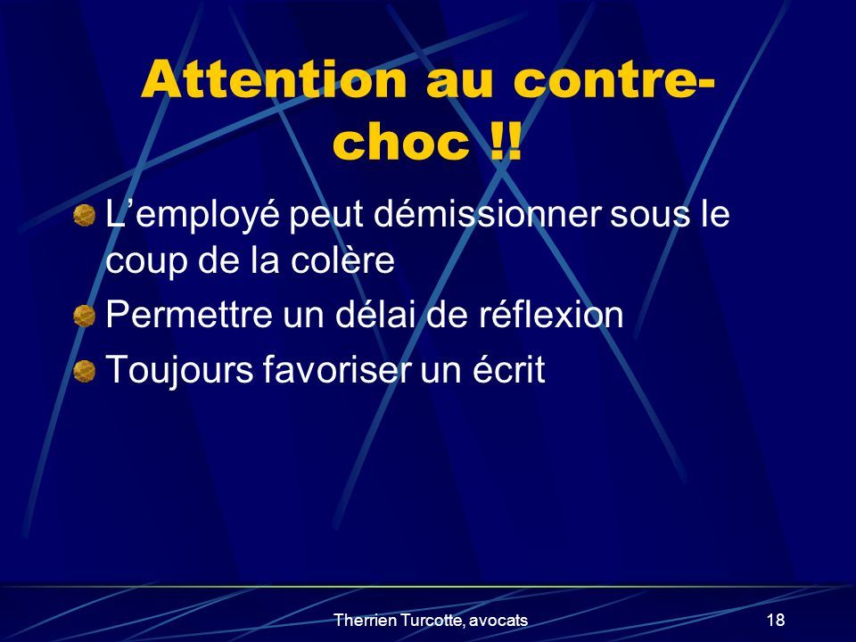 Attention au contre-choc !!