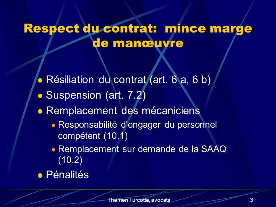 Respect du contrat: mince marge de manœuvre