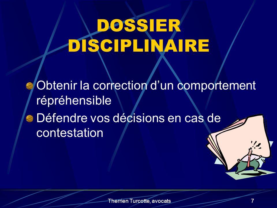 DOSSIER DISCIPLINAIRE