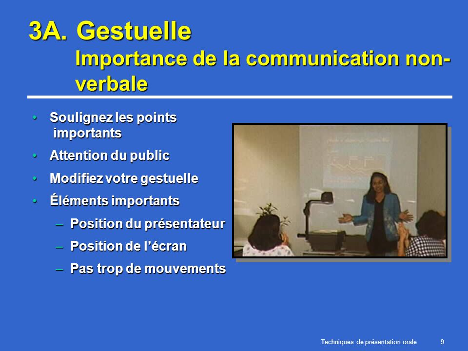 3A. Gestuelle Importance de la communication non-verbale