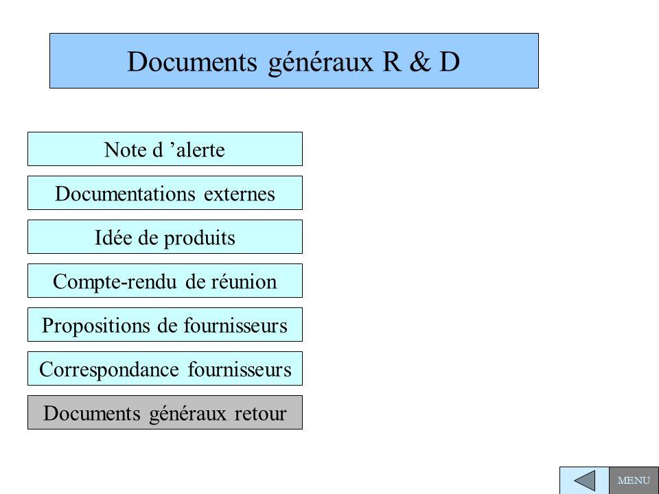 Documents généraux R & D