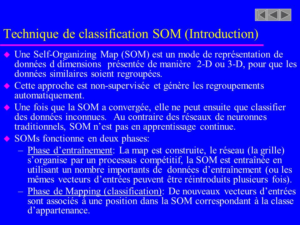 Technique de classification SOM (Introduction)