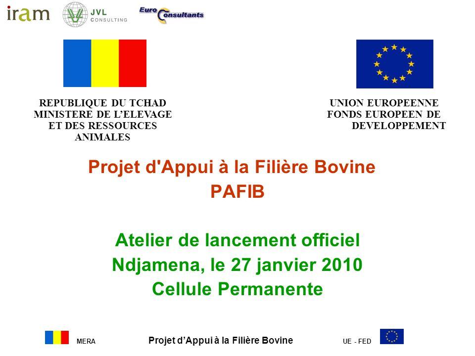 Projet d Appui à la Filière Bovine PAFIB Atelier de lancement officiel