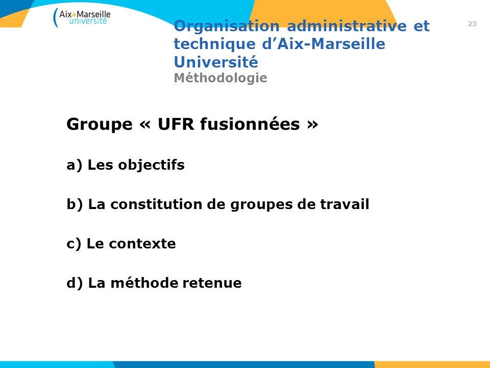 Groupe « UFR fusionnées »