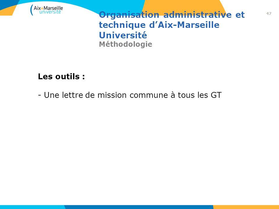Les outils : Une lettre de mission commune à tous les GT