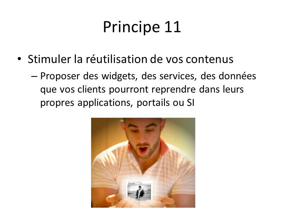 Principe 11 Stimuler la réutilisation de vos contenus