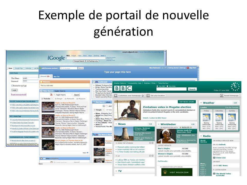 Exemple de portail de nouvelle génération