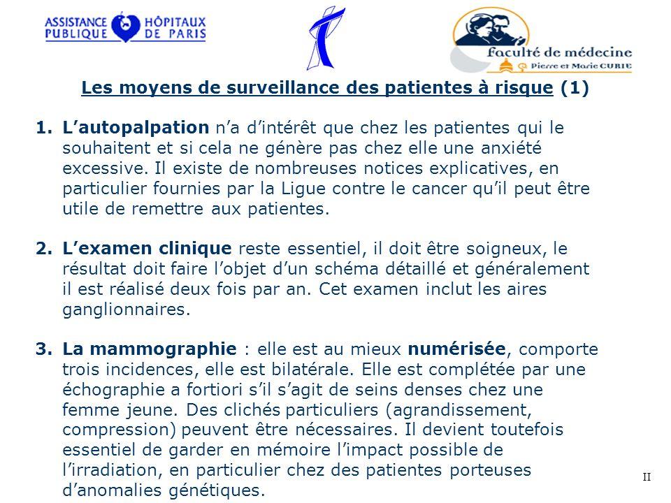Les moyens de surveillance des patientes à risque (1)