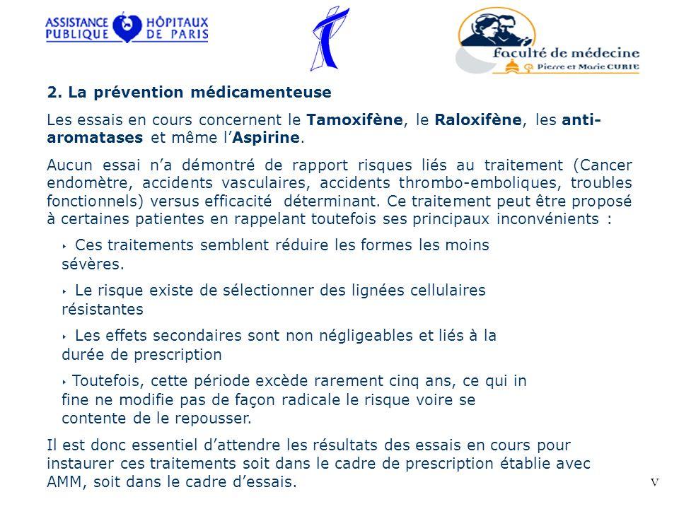 2. La prévention médicamenteuse