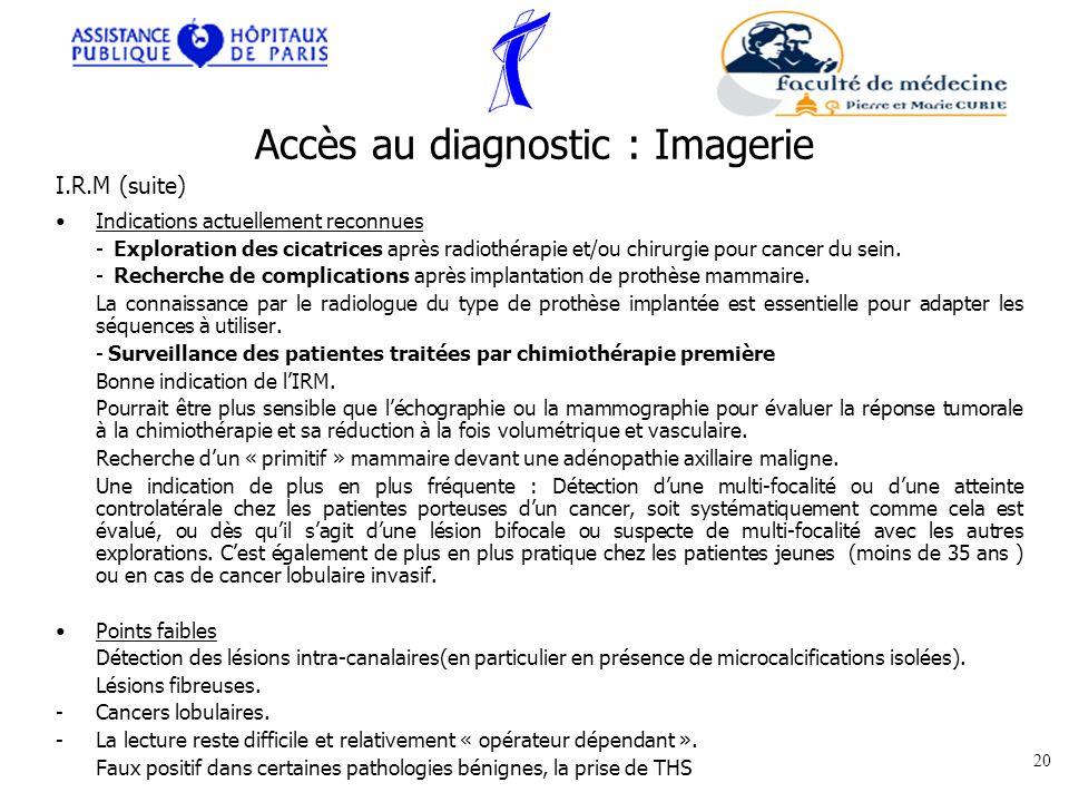 Accès au diagnostic : Imagerie