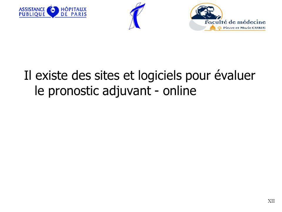 Il existe des sites et logiciels pour évaluer le pronostic adjuvant - online