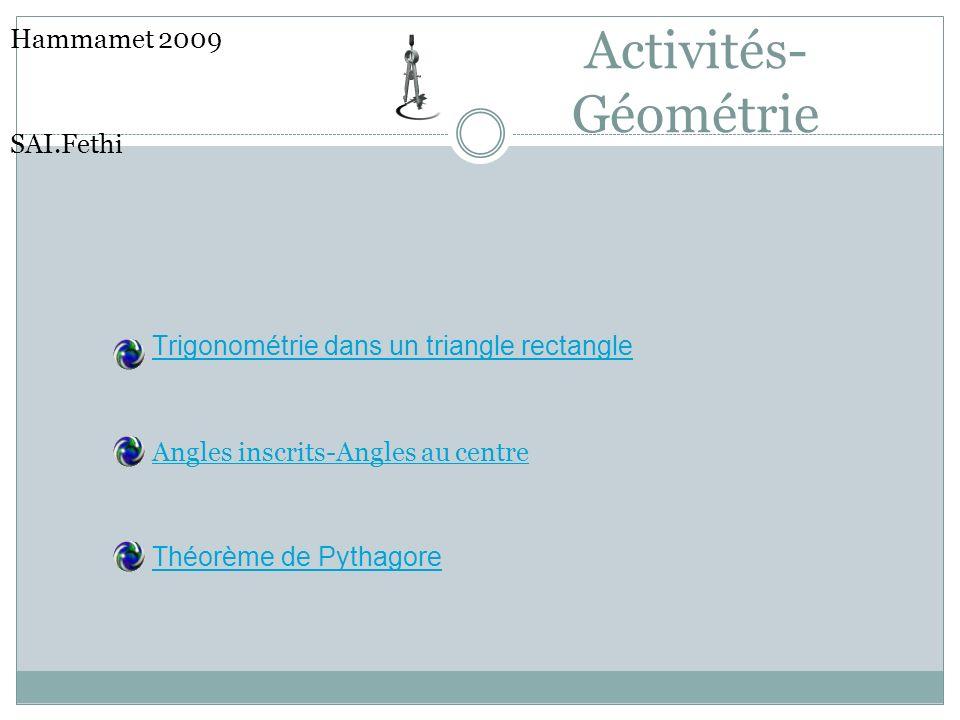 Activités-Géométrie Hammamet 2009 SAI.Fethi