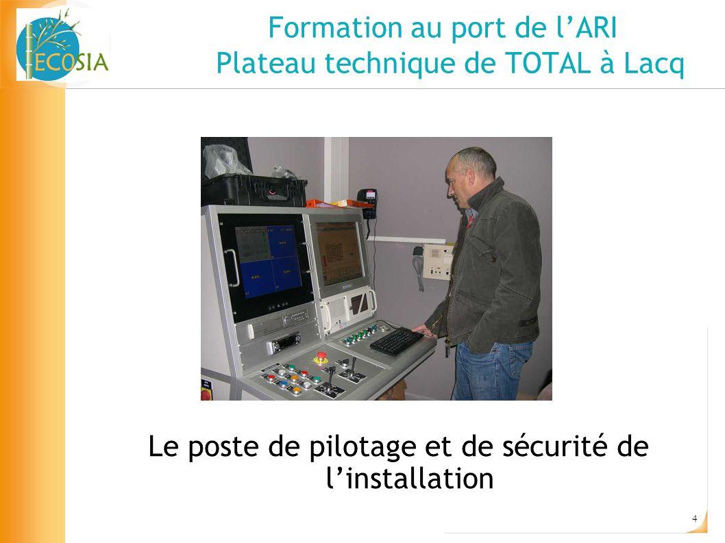 Formation au port de l'ARI Plateau technique de TOTAL à Lacq