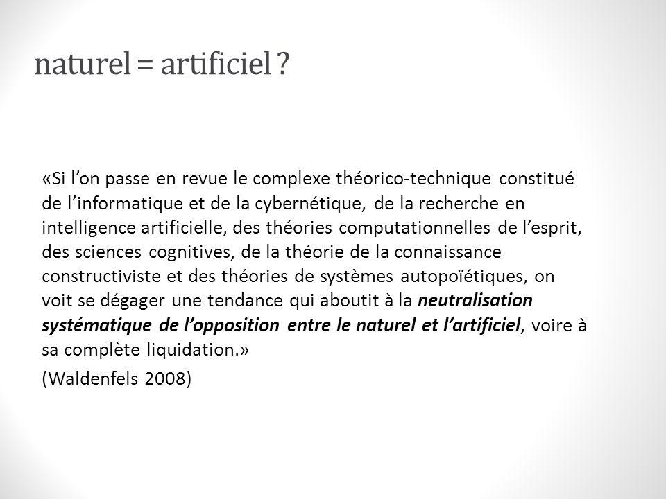 naturel = artificiel