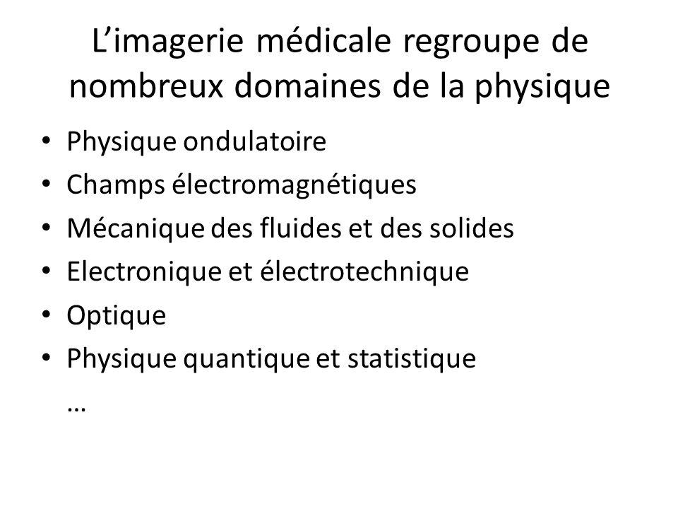 L'imagerie médicale regroupe de nombreux domaines de la physique