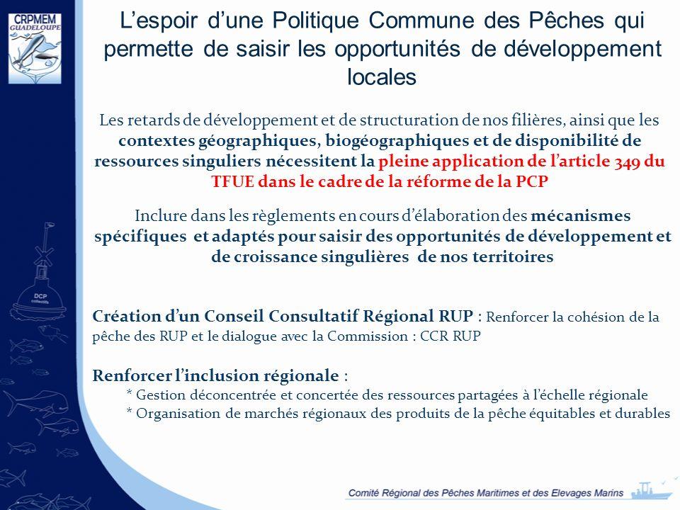 L'espoir d'une Politique Commune des Pêches qui permette de saisir les opportunités de développement locales
